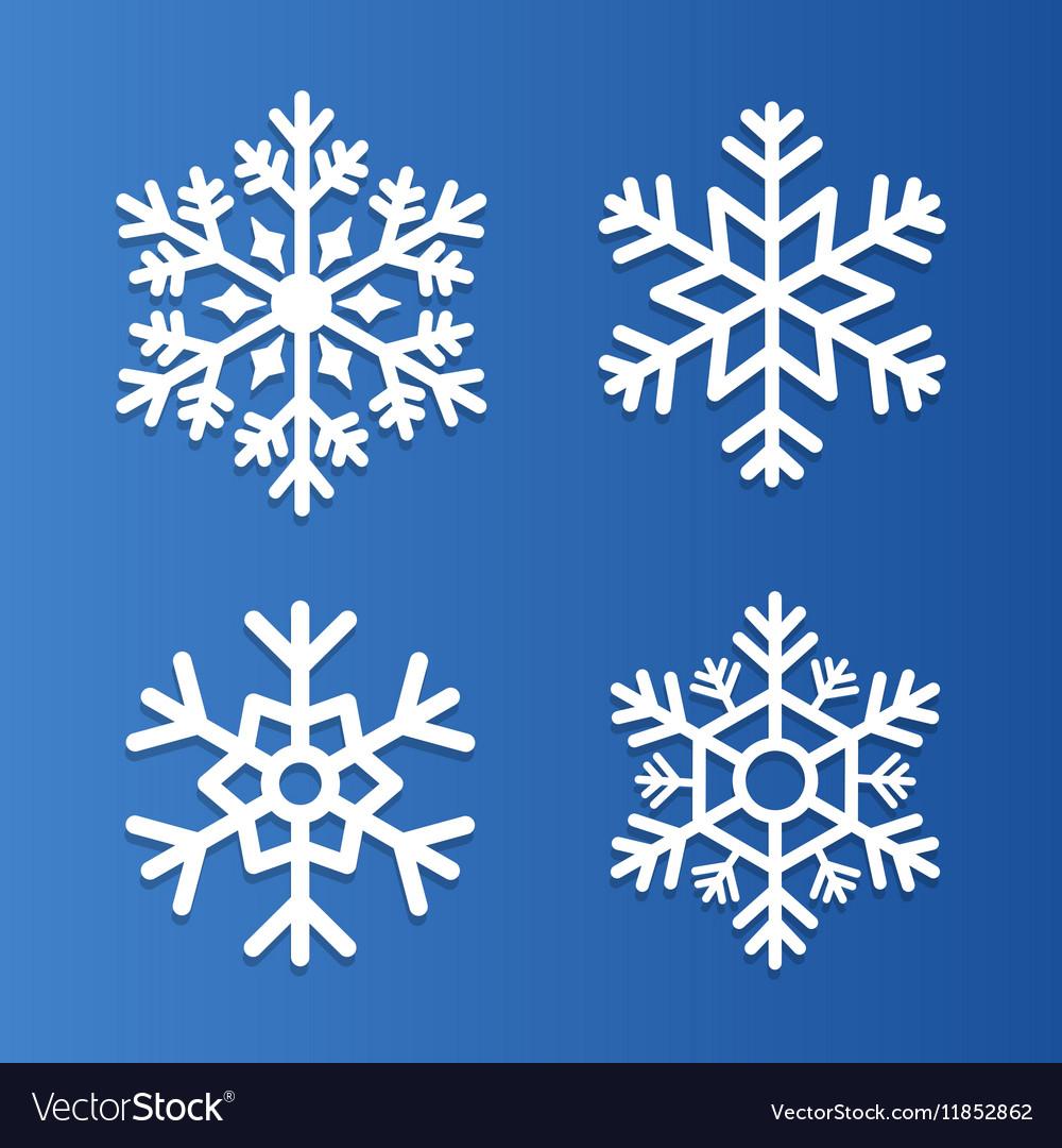 Set snowflakes icons