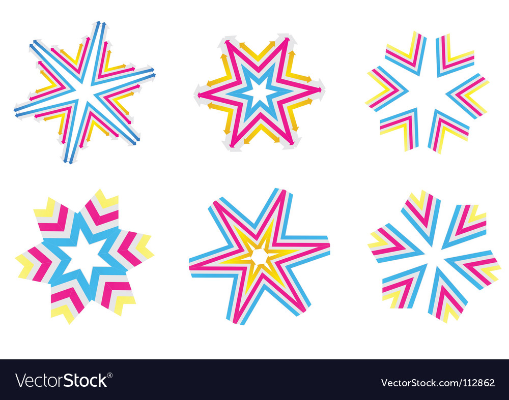 Star shapes vector image