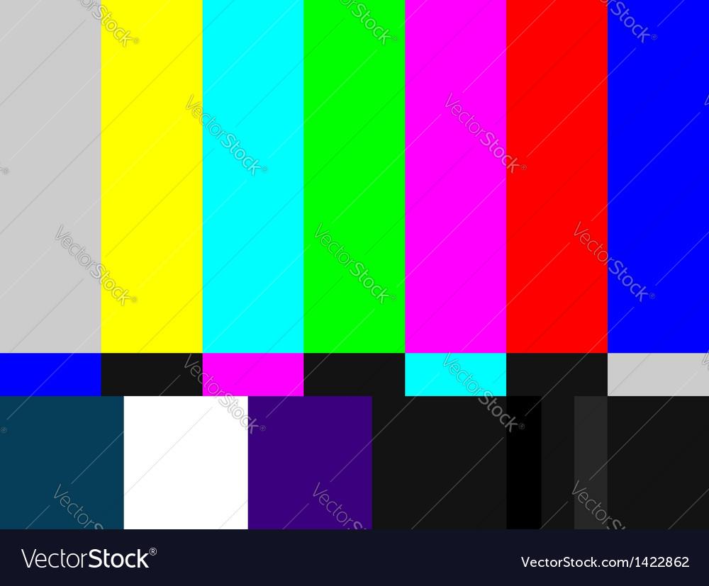 TV colored bars signal