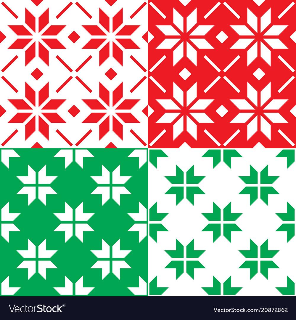 Winter nordic snowflakes pattern christmas