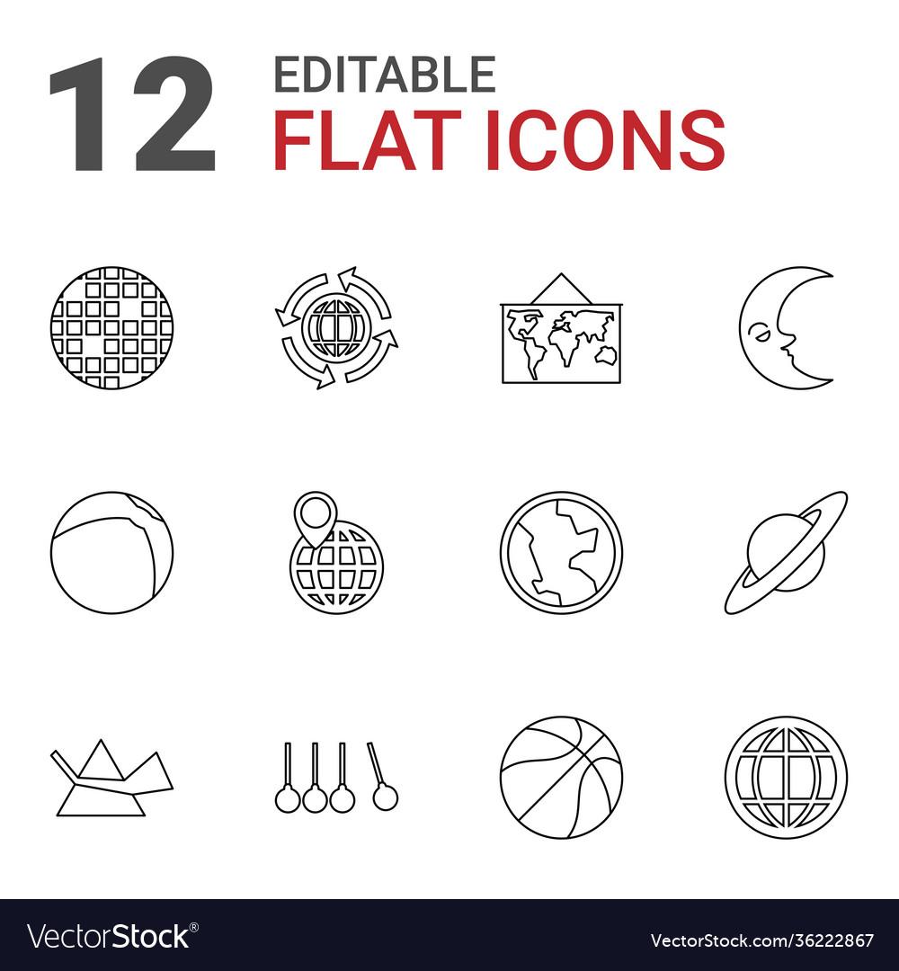 12 sphere icons