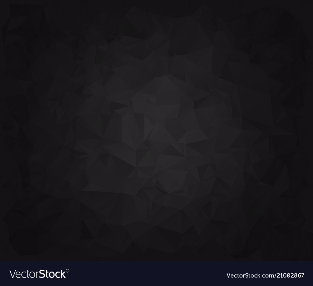Abstract black faceted paper background