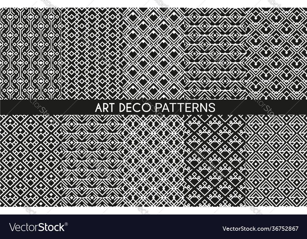 Art deco pattern backgrounds geometric vintage