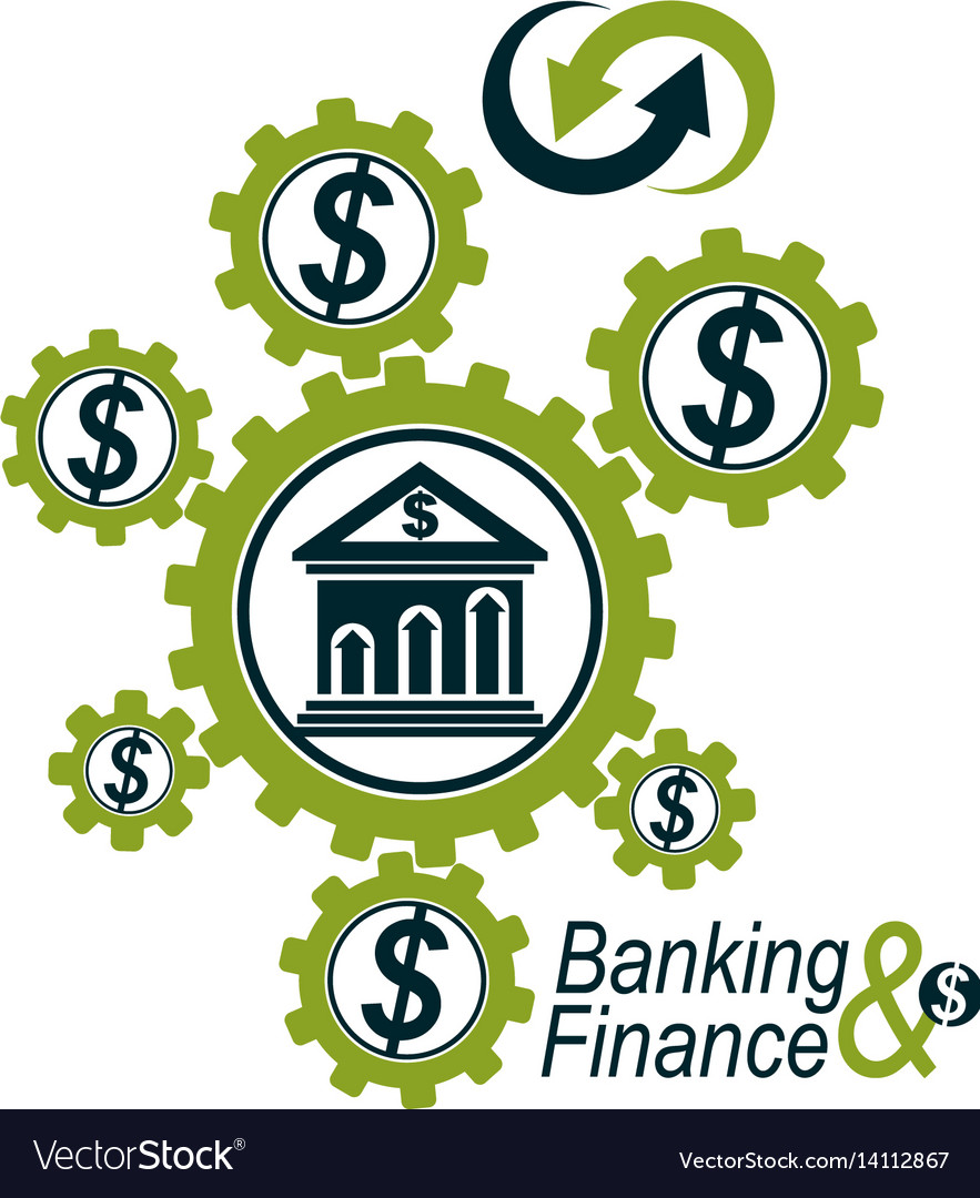 Banking and finance conceptual logo unique