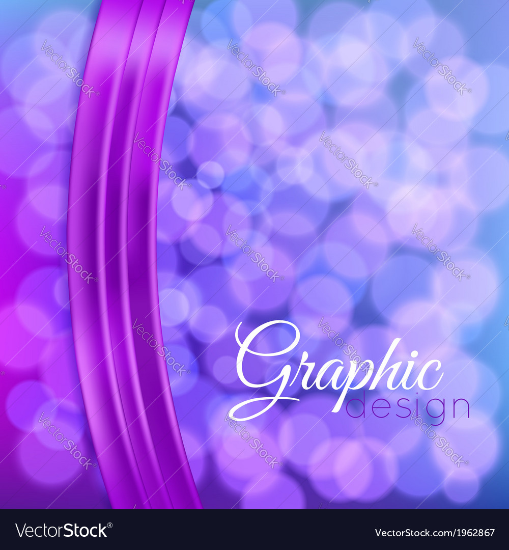 Bokeh background with a ribbon vector image