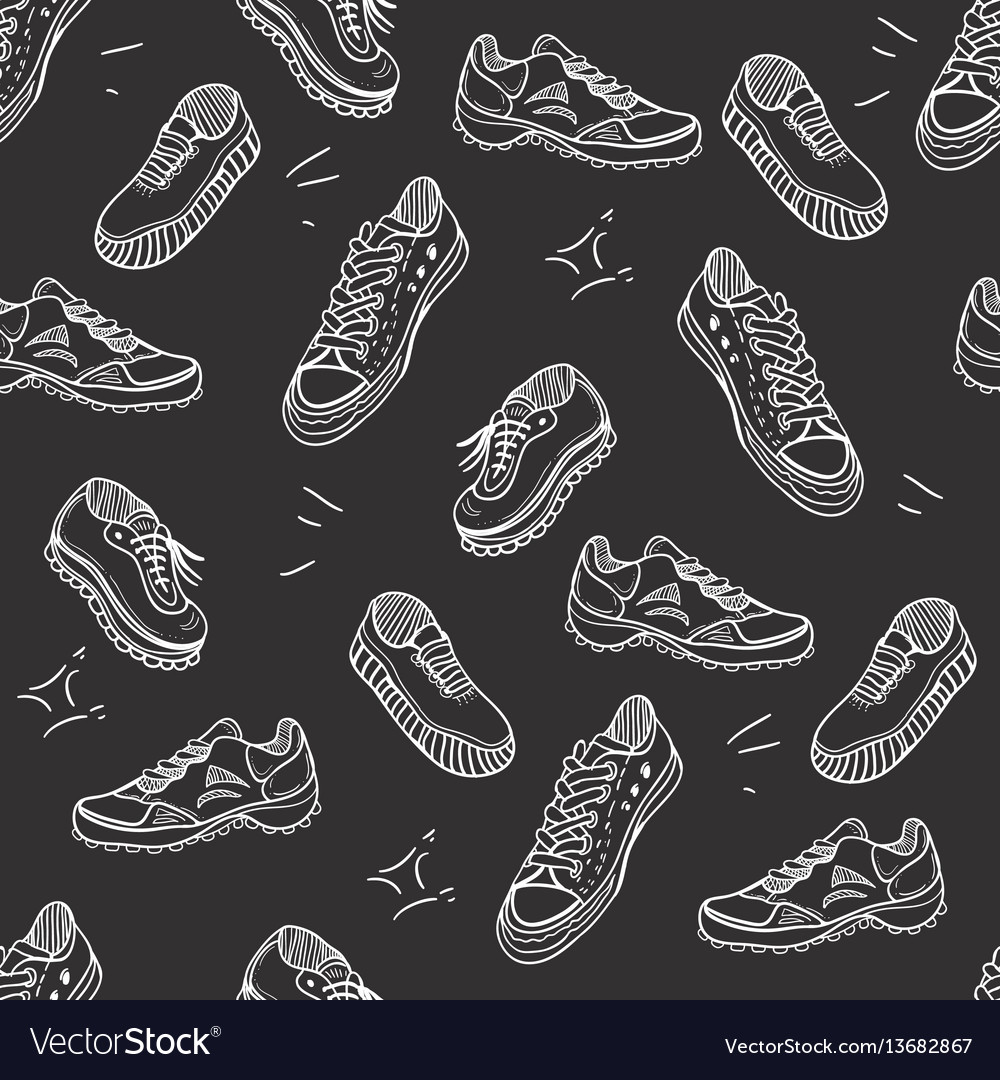 Boots doodle seamless pattern