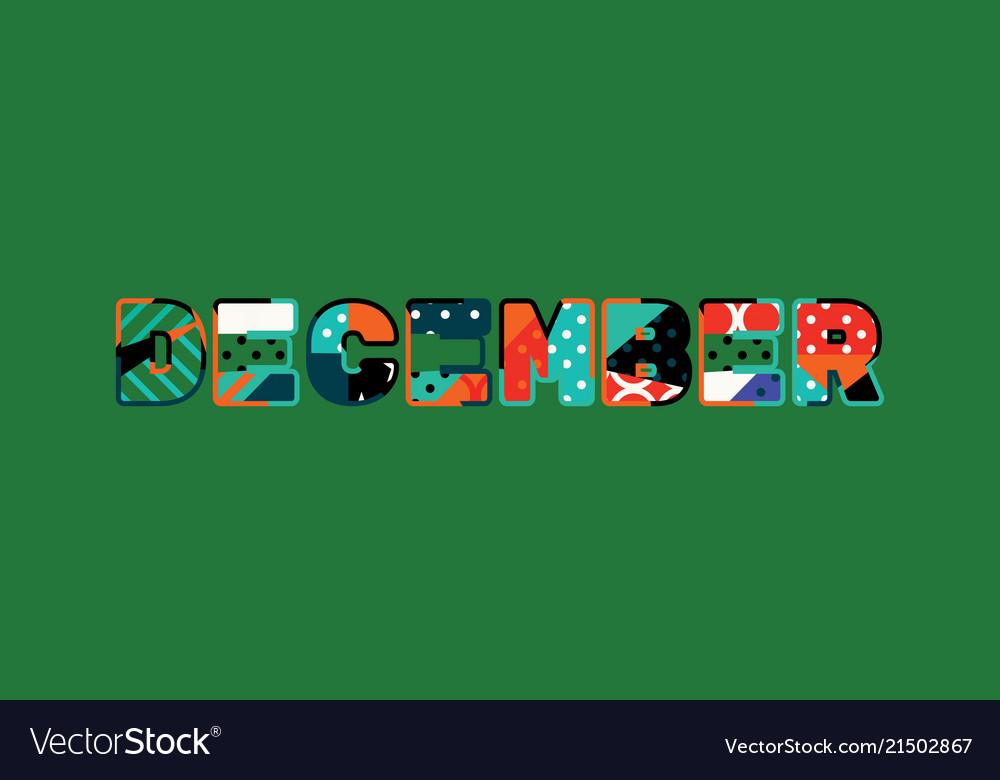 December concept word art