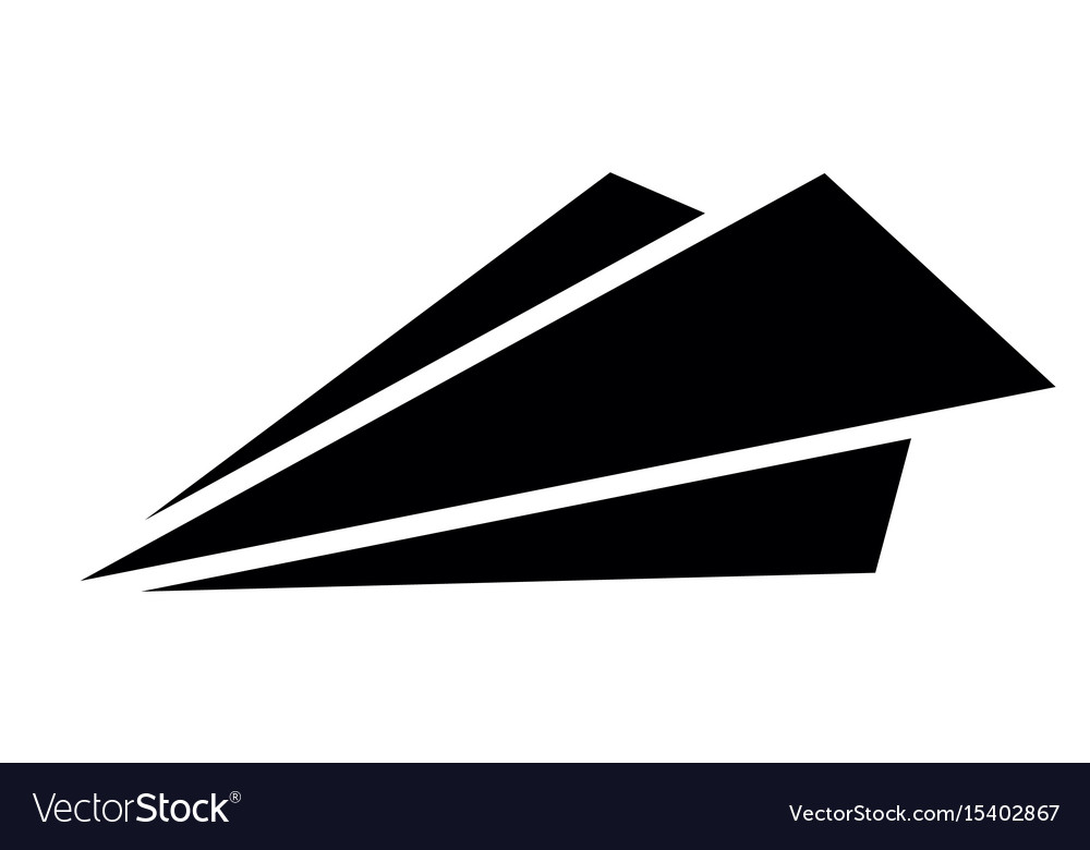 isolated paper airplane royalty free vector image rh vectorstock com paper airplane vector free Paper Airplane Aitport