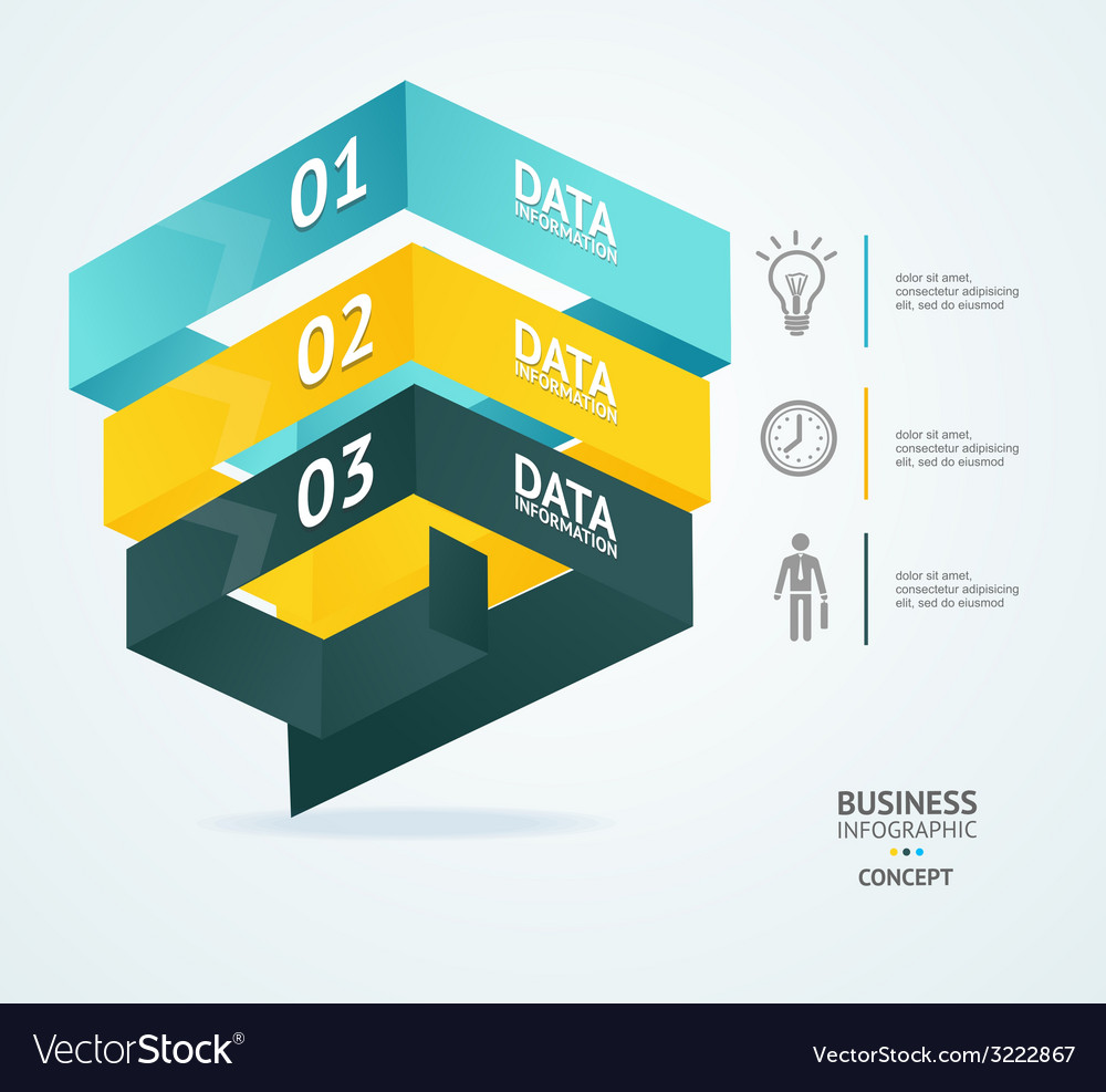 Pyramid chart for infographics design