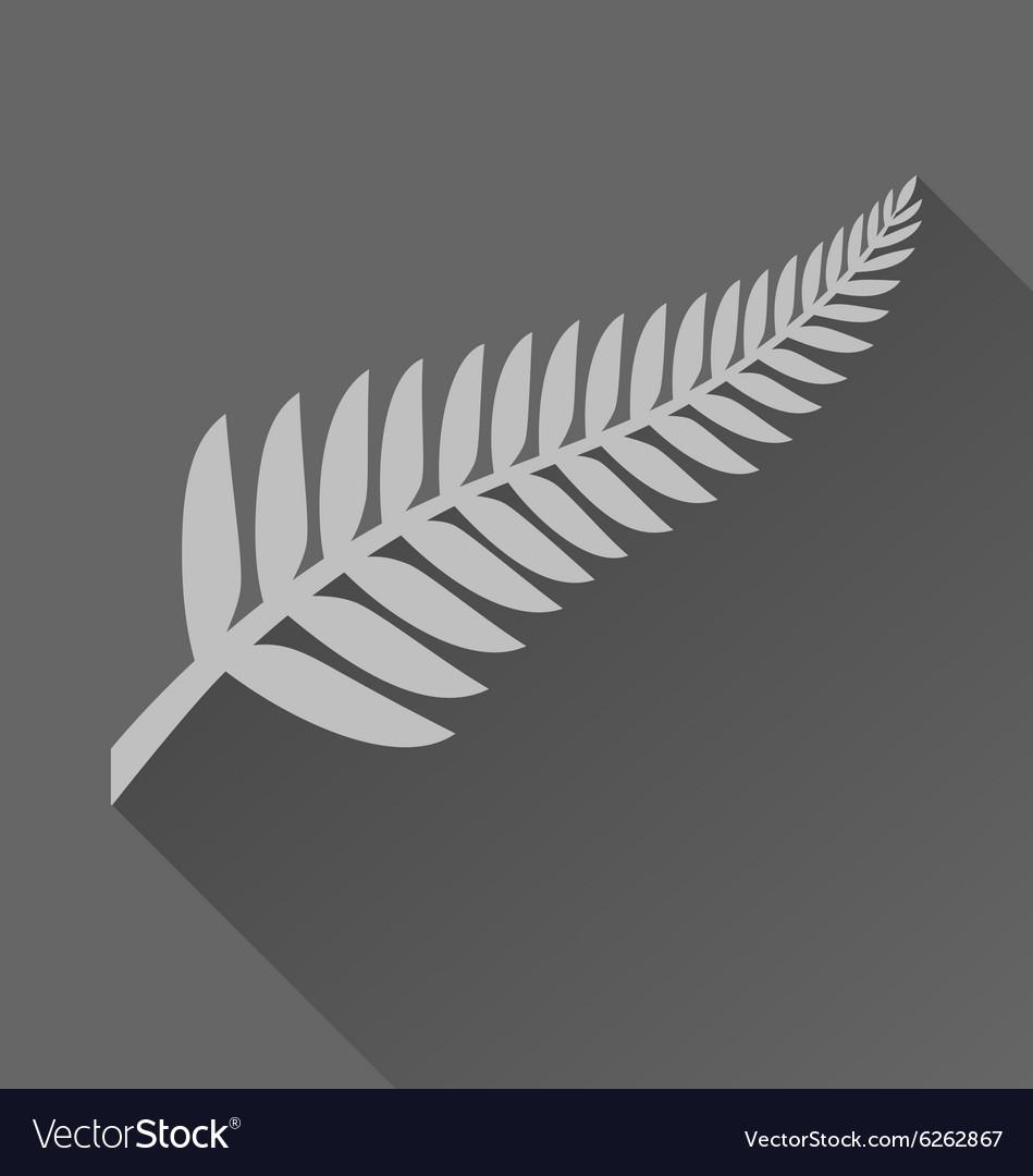 Silver fern with long shadow