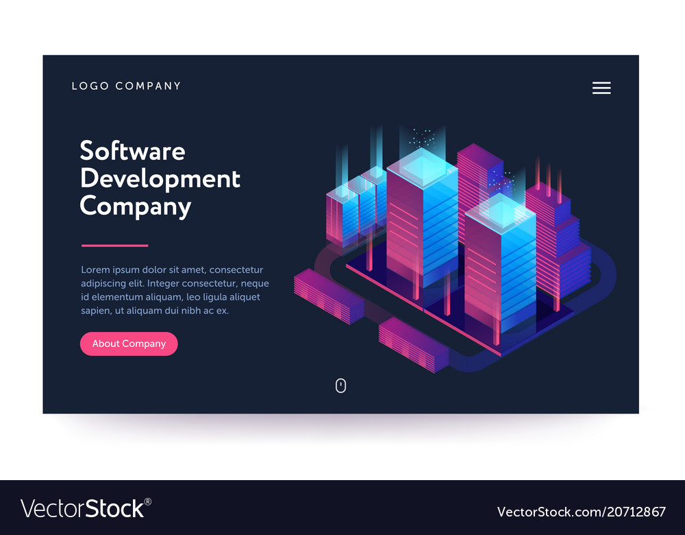 Software development company web vector image