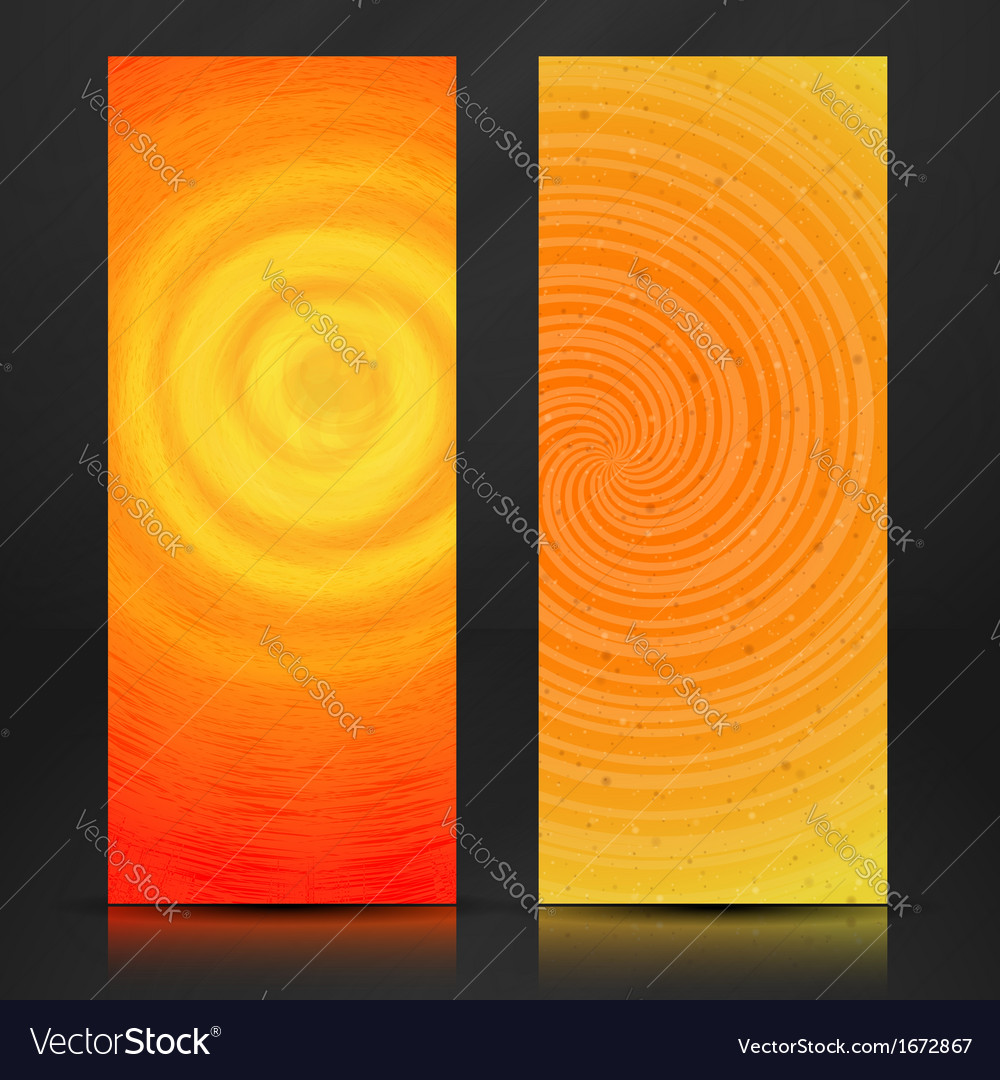 Summer Orange Banner vector image