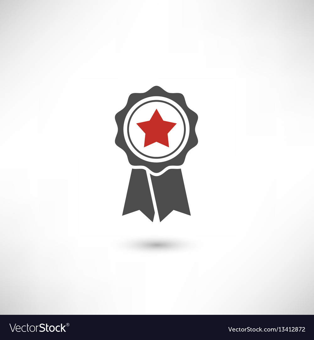 Badge star red