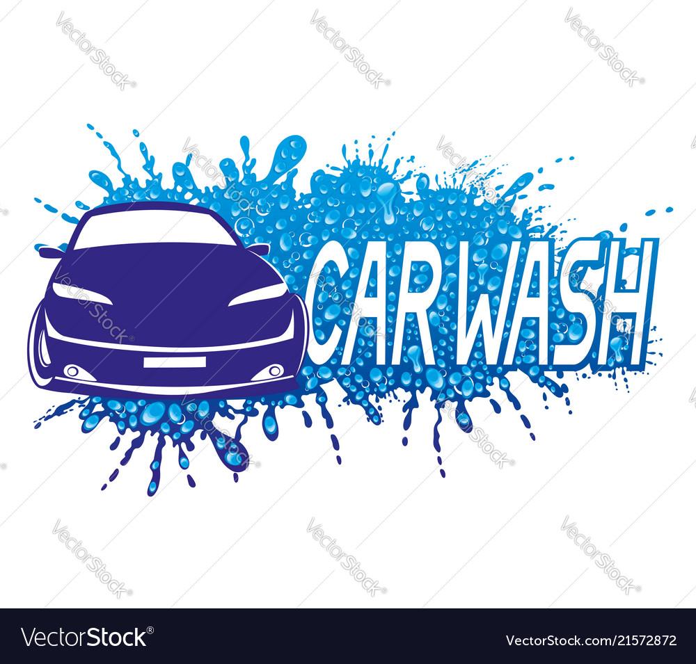 Car Wash Sign Royalty Free Vector Image Vectorstock
