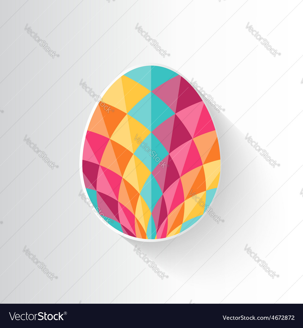 Colorful patterned Easter egg