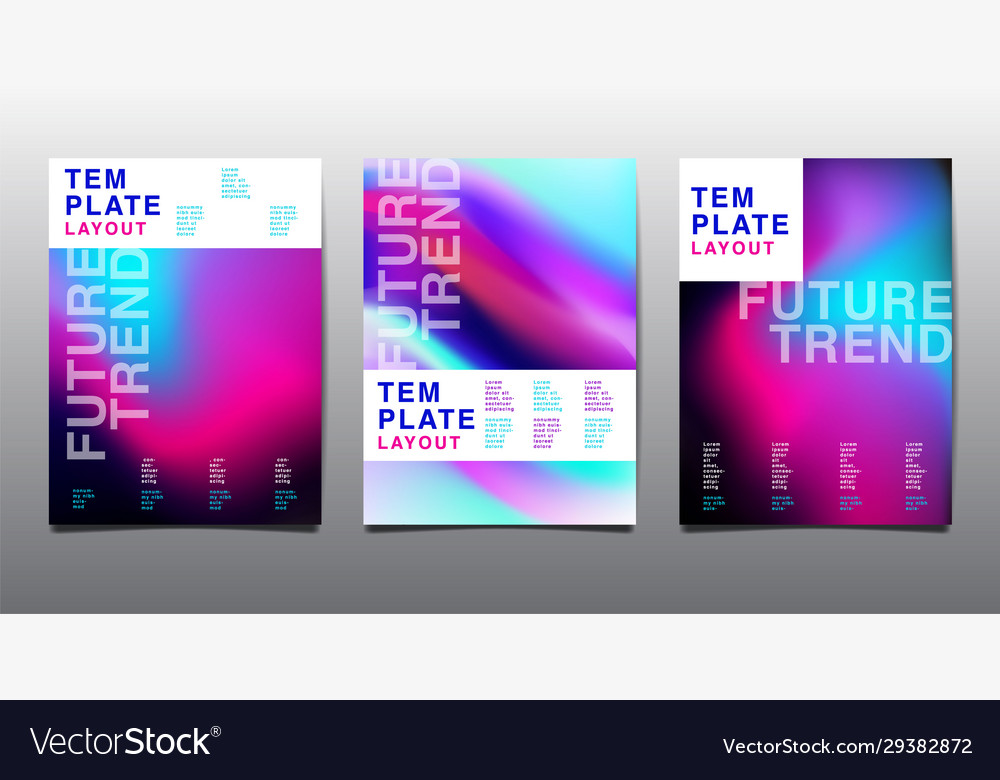 Design layout bright color background gradient