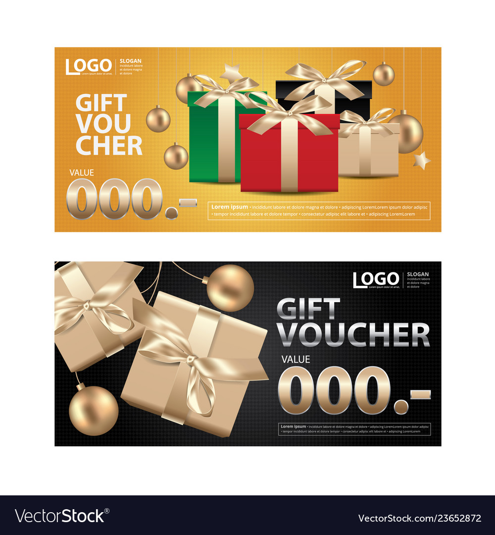 Gift voucher coupon template for your business vec
