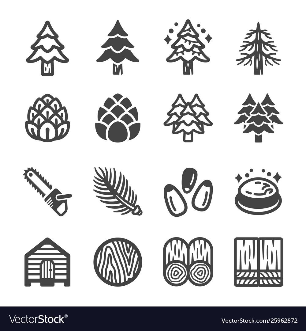 Pine icon set