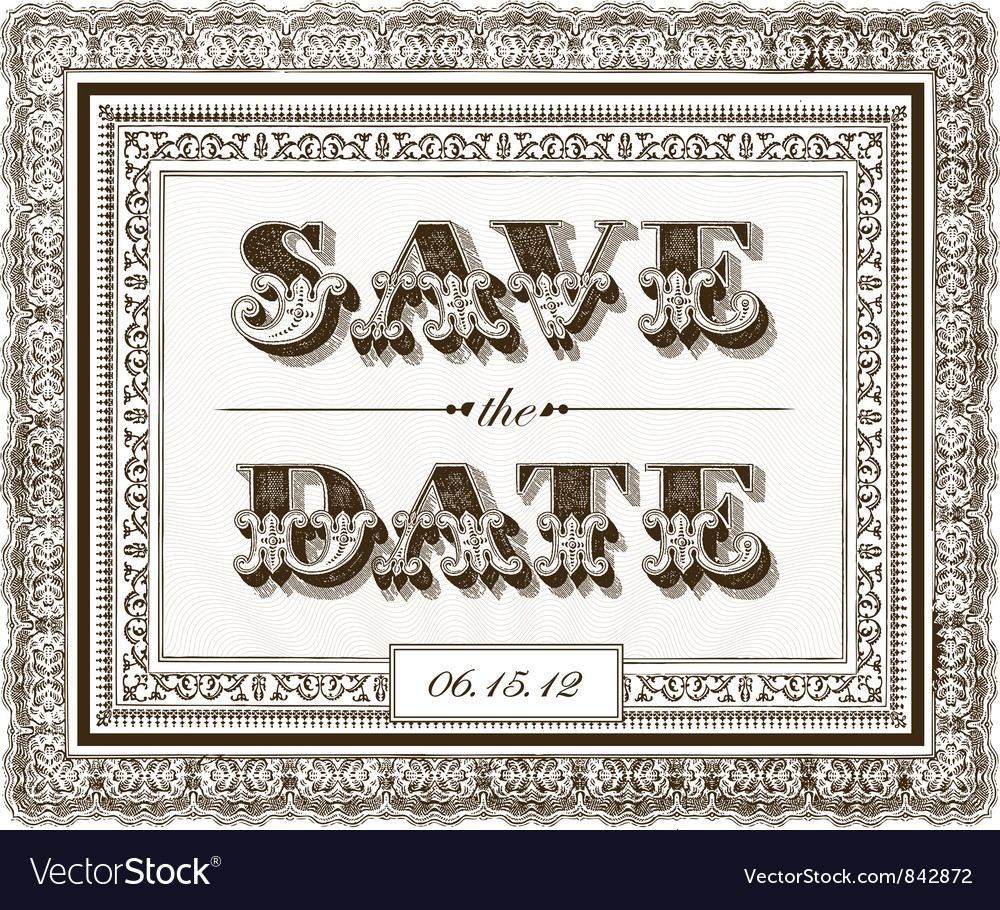 Save date invite vector