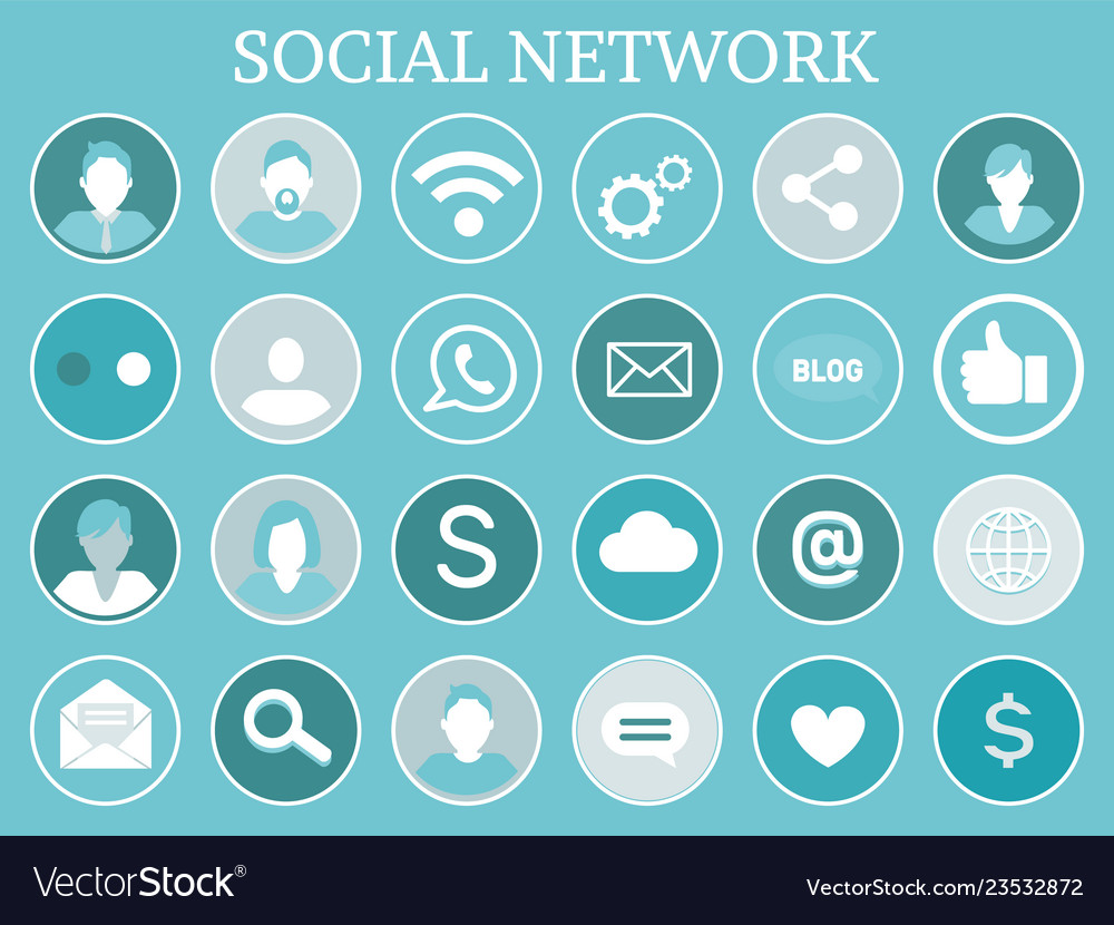 Social network profiles icons