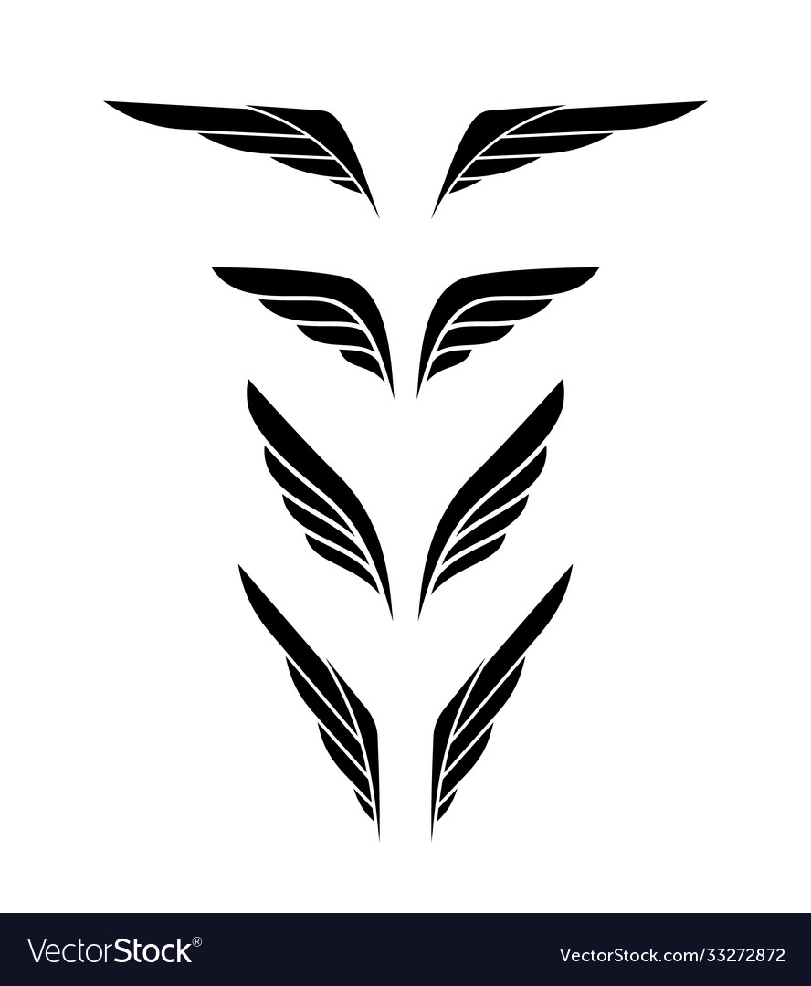 Wing logo emblem in simple style