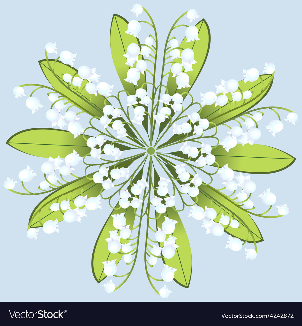 Wreath of flowers of lily on a blue background vector image izmirmasajfo