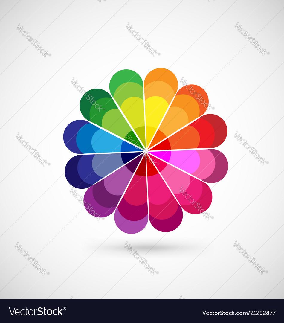 Colorful wheel palette icon
