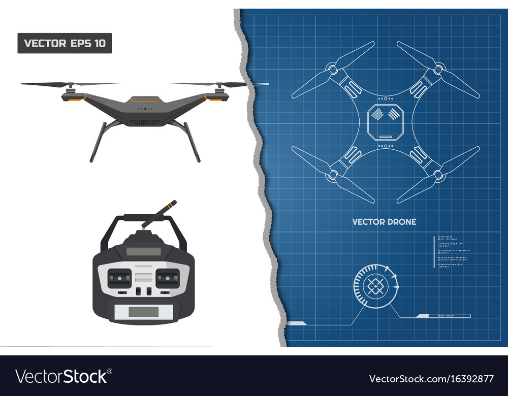 Drawing of drone industrial blueprint royalty free vector drawing of drone industrial blueprint vector image malvernweather Image collections