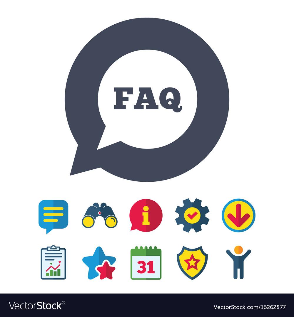 Faq information sign icon help symbol