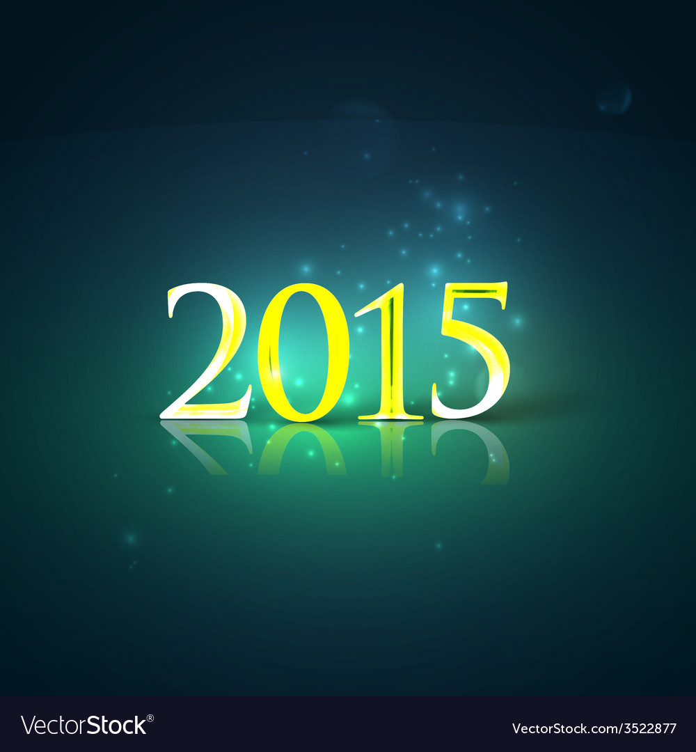 Happy new year 2015 holiday background with shiny