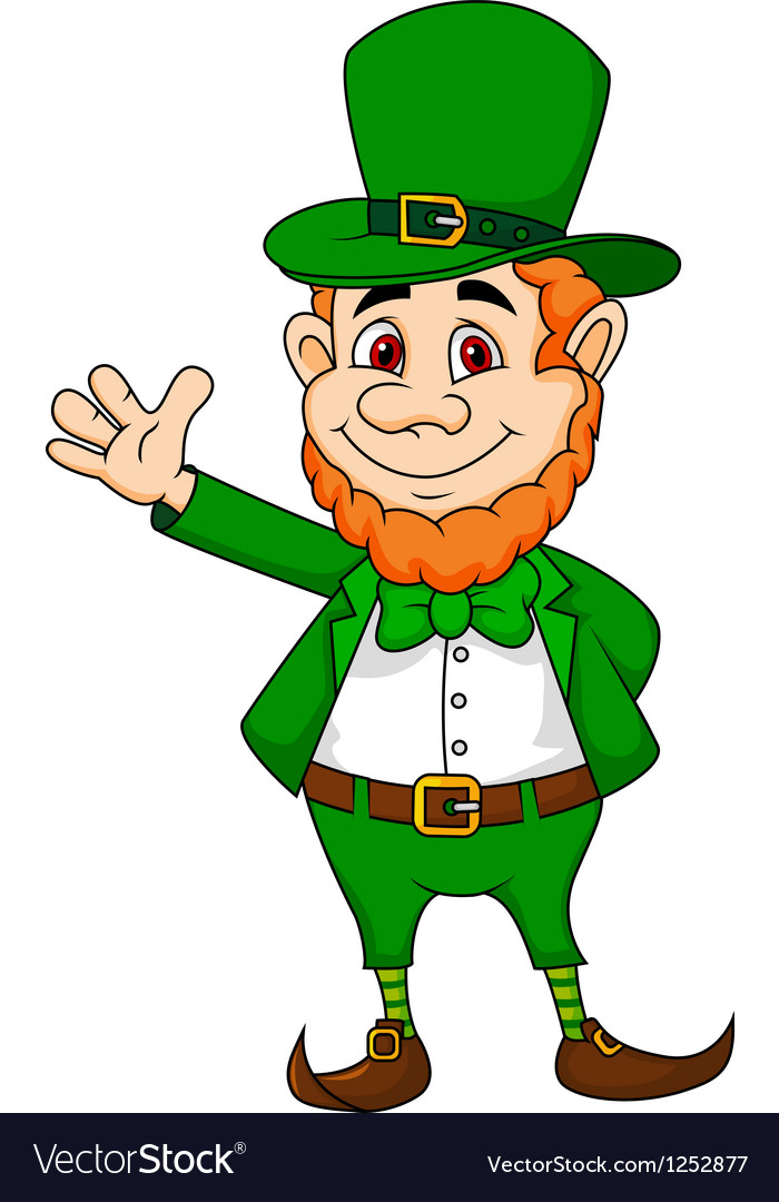 Leprechaun cartoon waving hand royalty free vector image leprechaun cartoon waving hand vector image altavistaventures