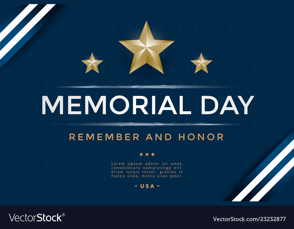 Memorial day cover template