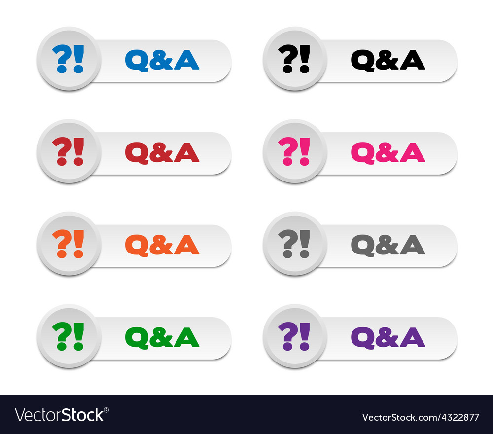 Question and answer buttons