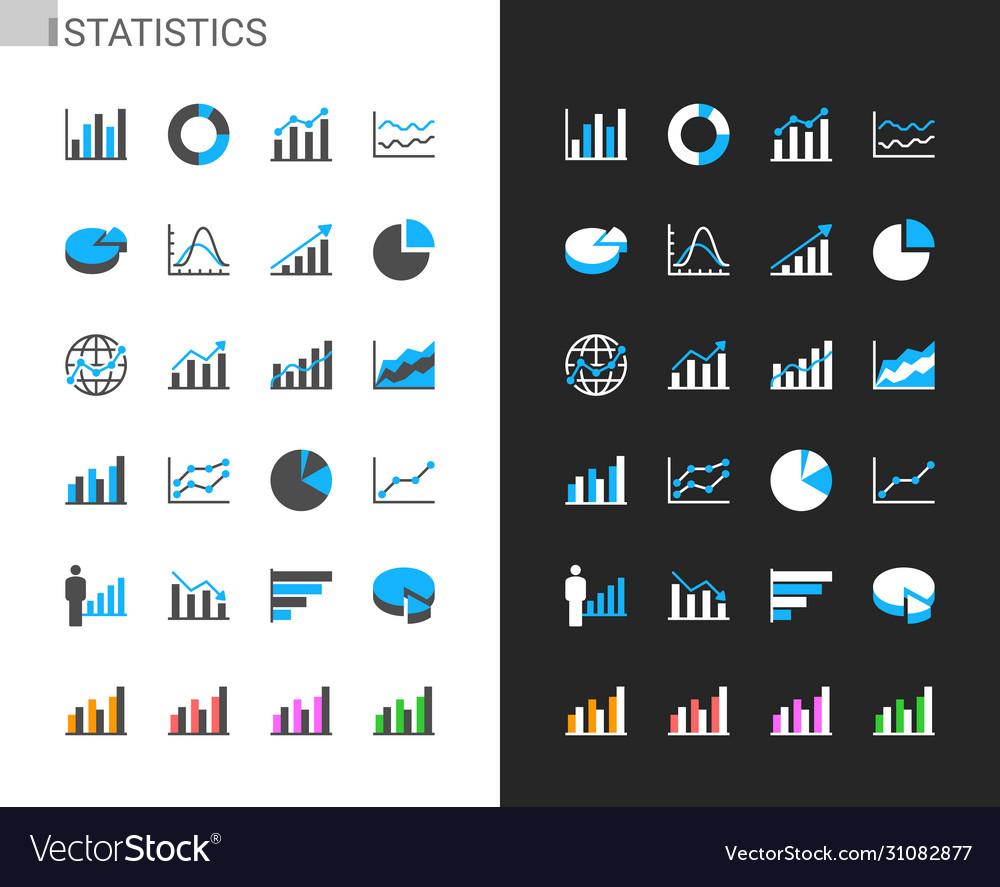 Statistics icons light and dark theme