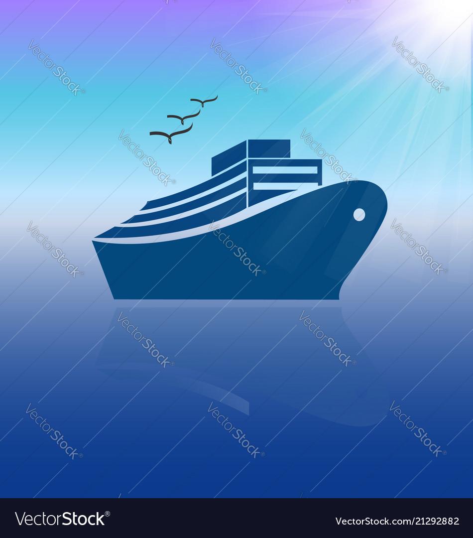 Cruise travel icon background