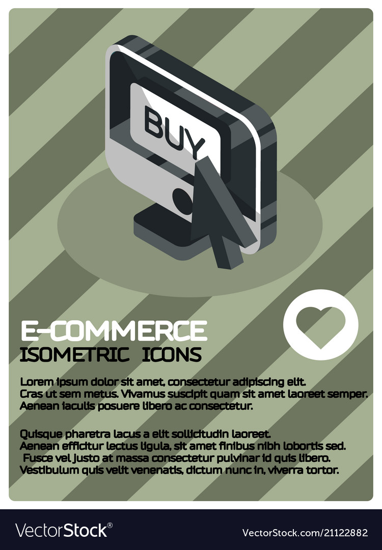 E-commerce color isometric poster