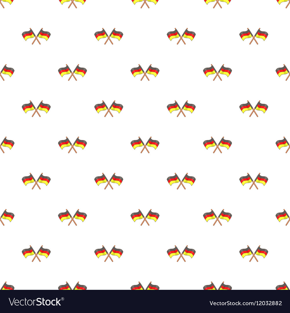 Flag of Germany pattern cartoon style vector image