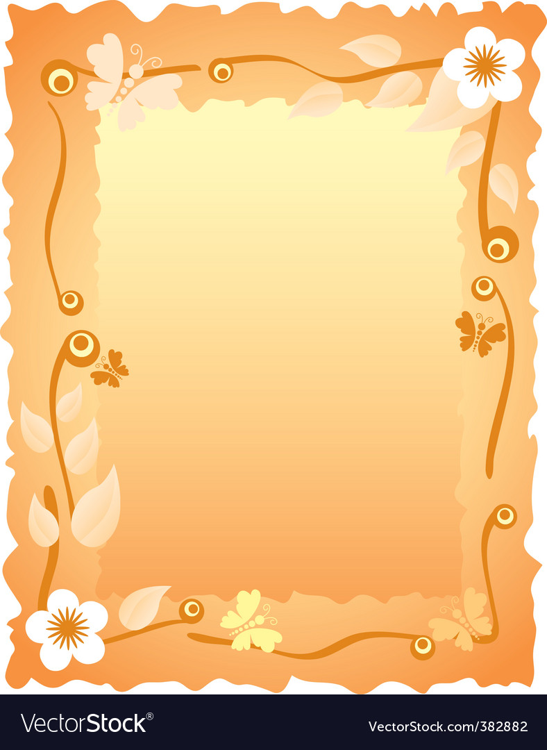 Greeting Card With Frame Royalty Free Vector Image