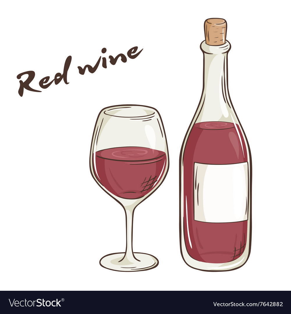 How To Draw A Wine Bottle And Glass ~ Drawing Tutorial Easy