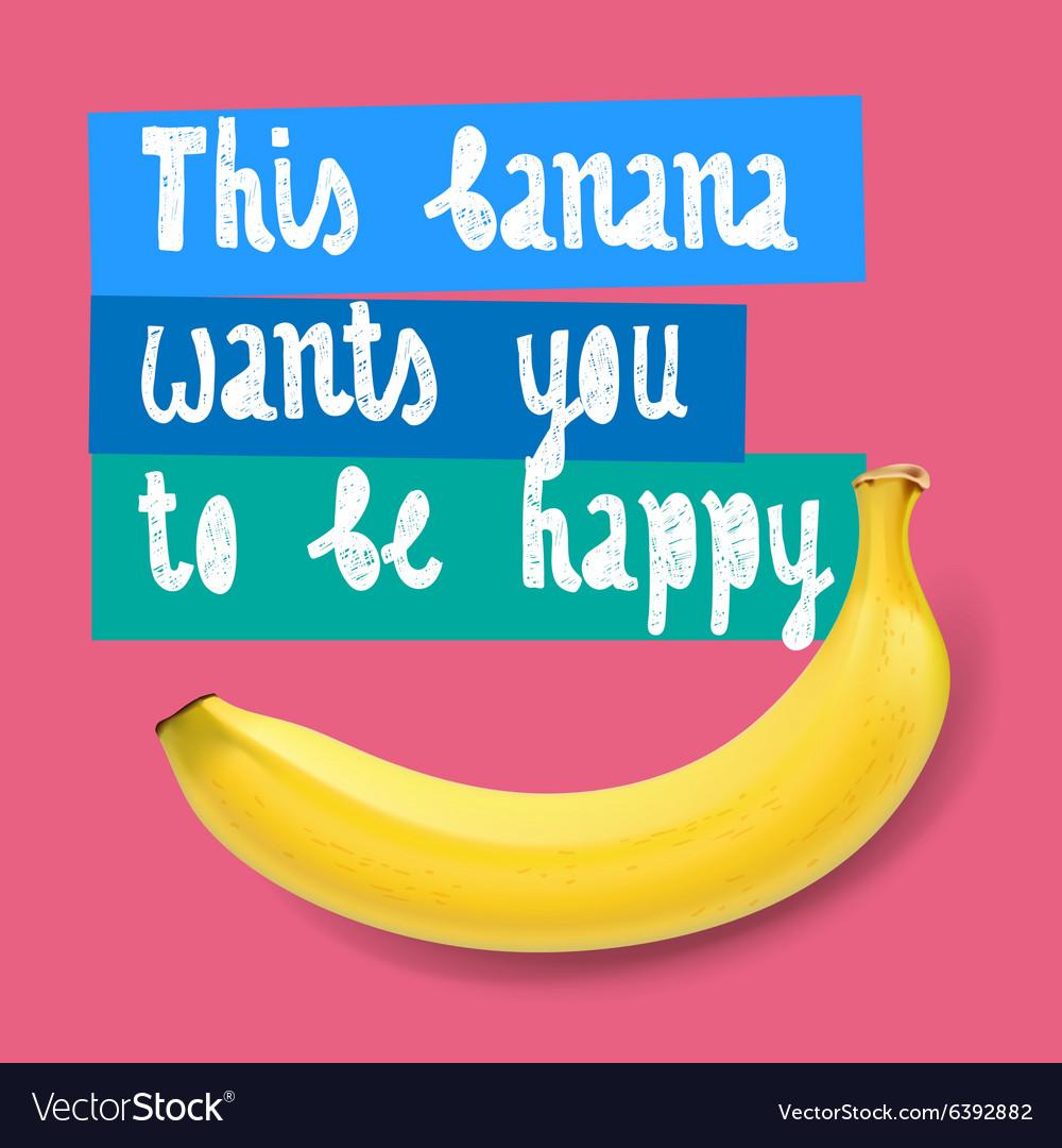 Happy banana background