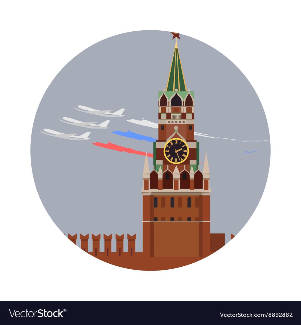 Moscow Kremlin icon isolated on white background