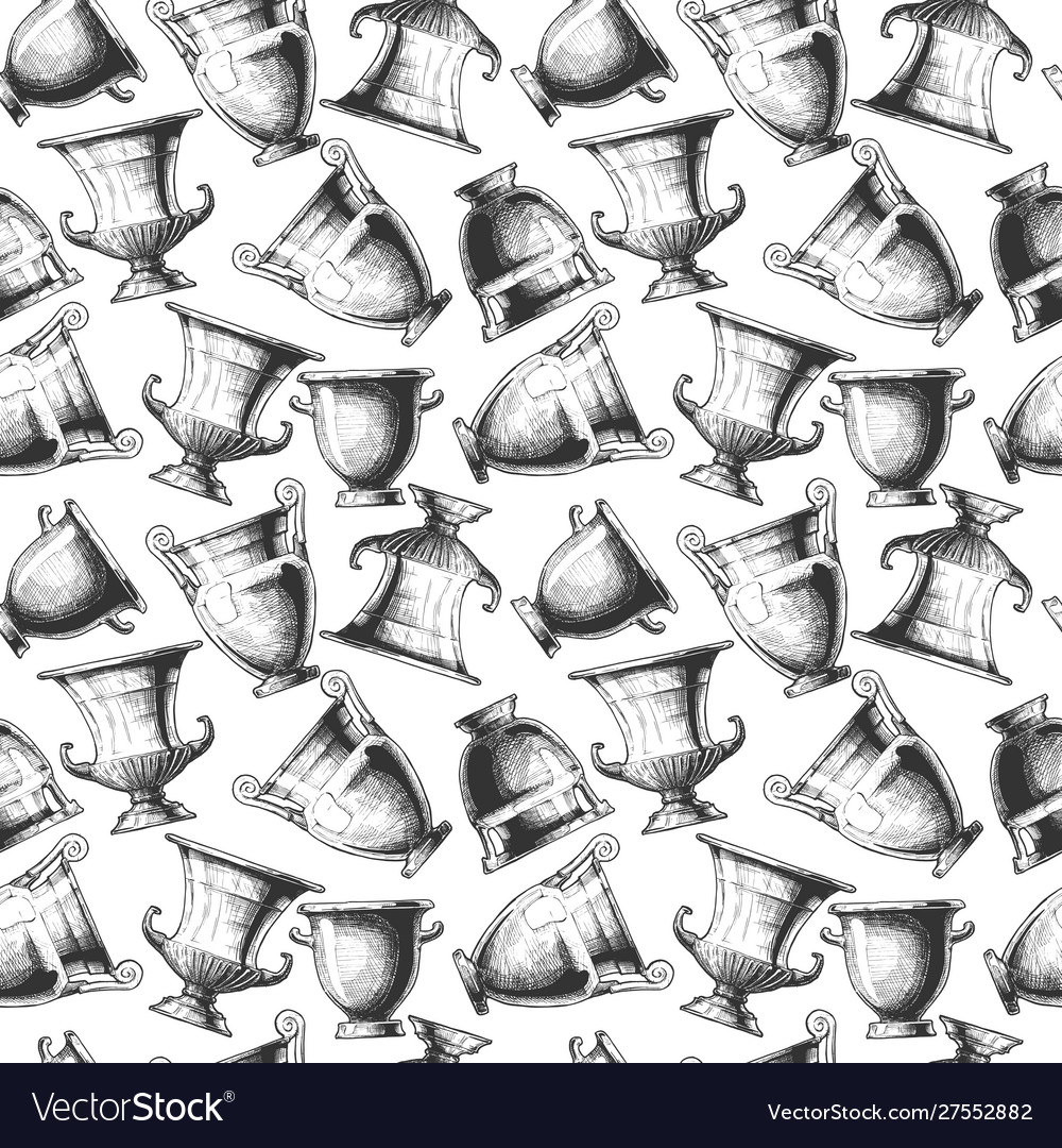 Pattern with greek vases