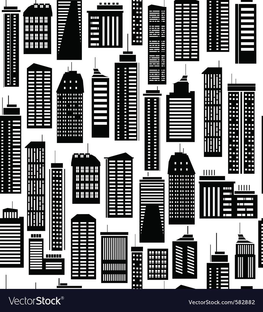 Skyscraper seamless pattern