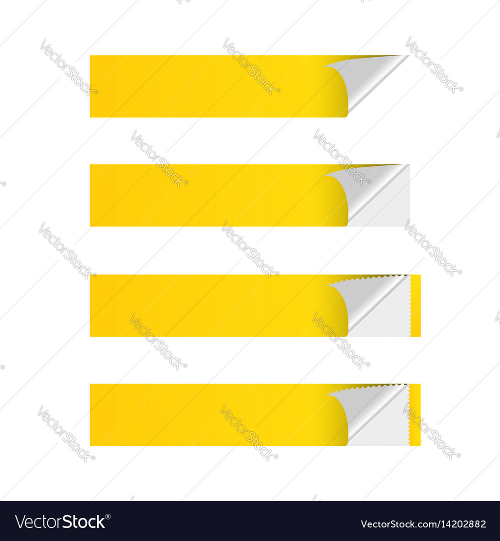 Sticker banner yellow vector image
