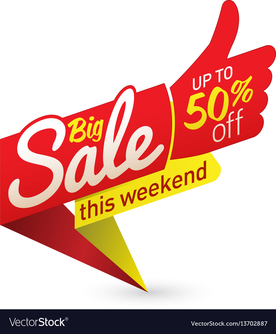 Big sale sign label template royalty free vector image.