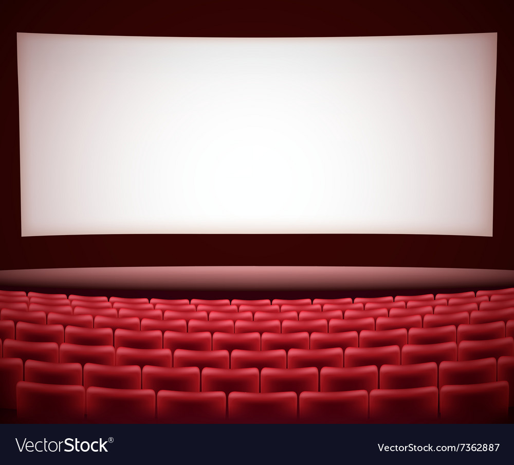 Cinema Theater Background Royalty Free Vector Image