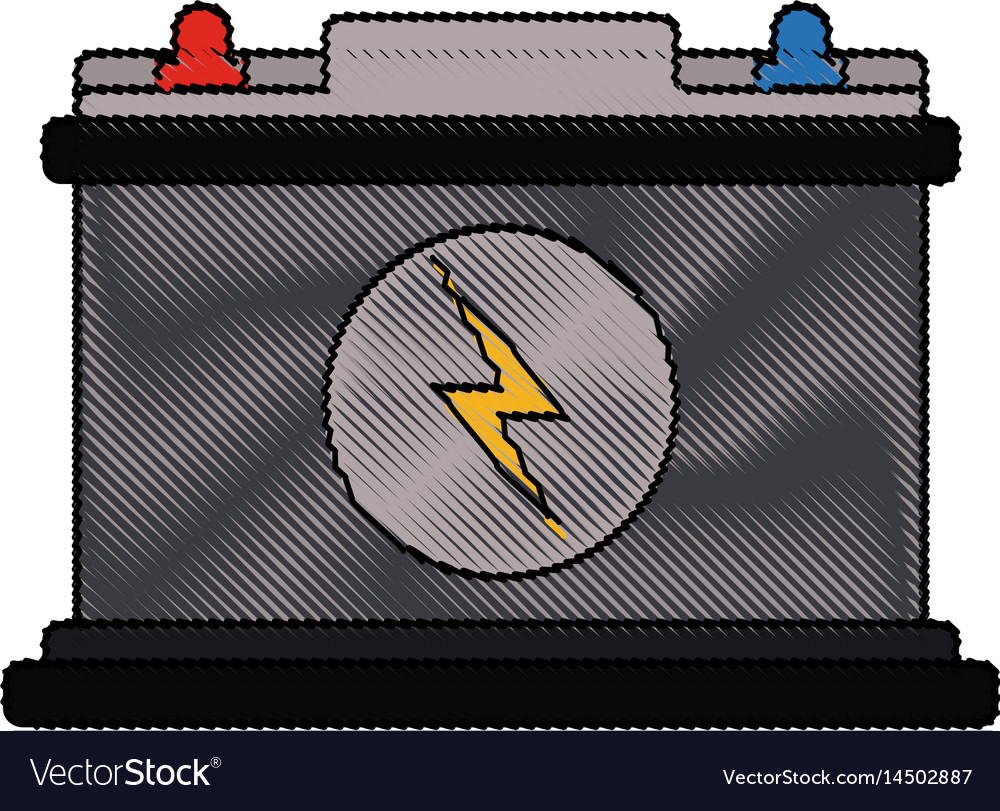 Color blurred stripe of car battery icon