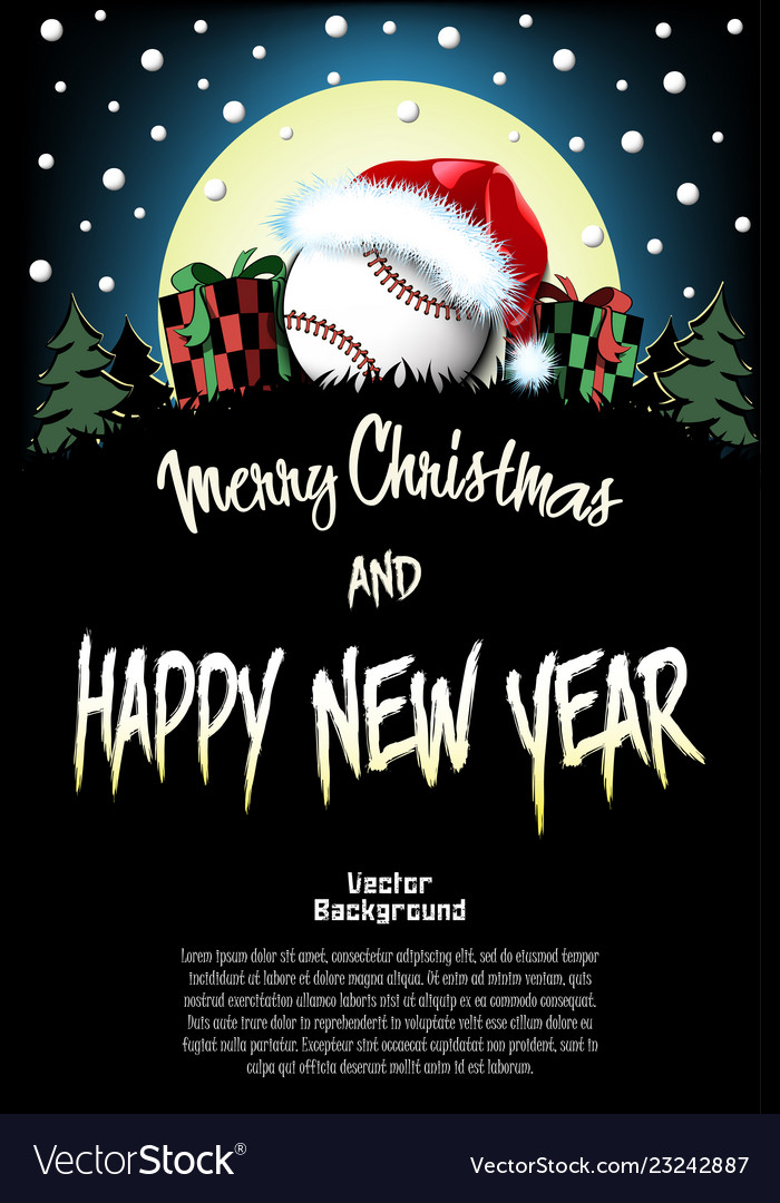 Christmas Sports Background.Sport Christmas And New Year Pattern Vector Image On Vectorstock