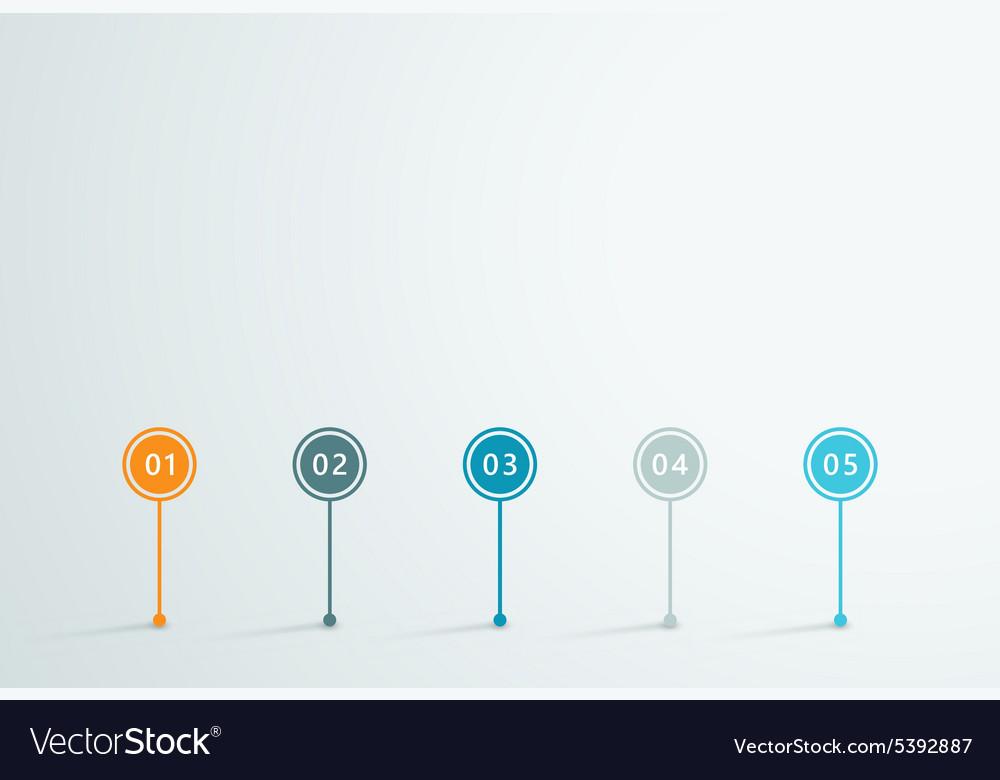 Timeline 3d infographic 1