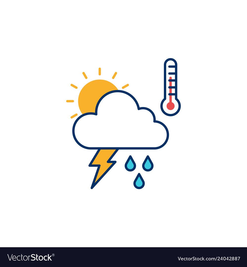 Weather icon line outline monoline